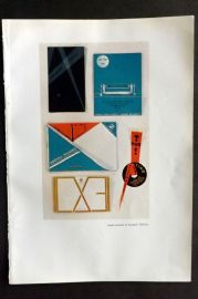 The Studio 1931 Vintage Art Deco Print Leaflets produced by Arcangelis Publicity